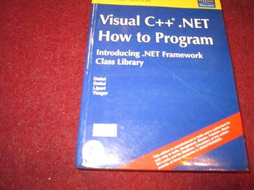 Visual C++ Net How to Program: Deitel