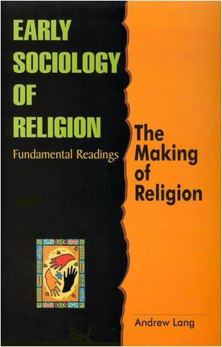 9788130706986: Early Sociology of Religion: Fundamental Readings