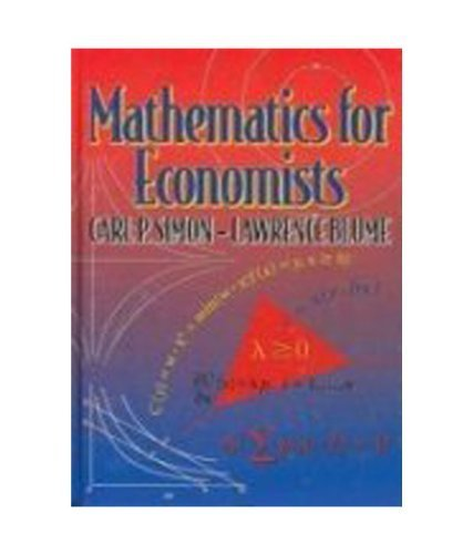 9788130902425: Mathematics for Economists