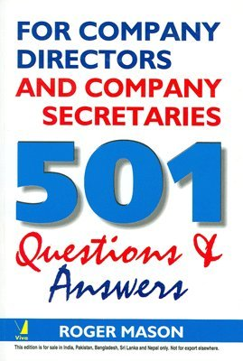 501 Questions & Answers for Company Directors and Company Secretaries: Roger Mason