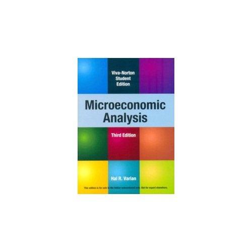 9788130908632: Microeconomic Analysis