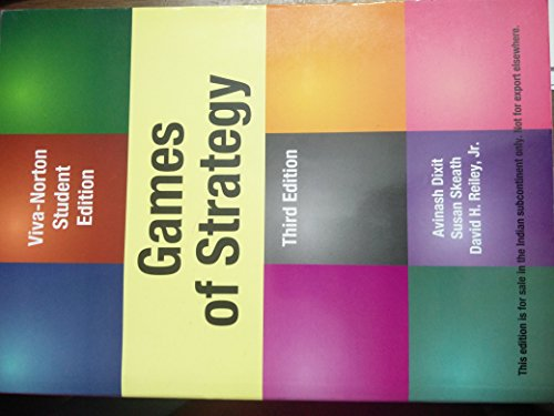 9788130915456: Games of Strategy