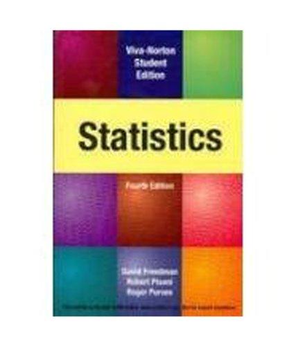 Statistics, 4/E: David Freedman Robert