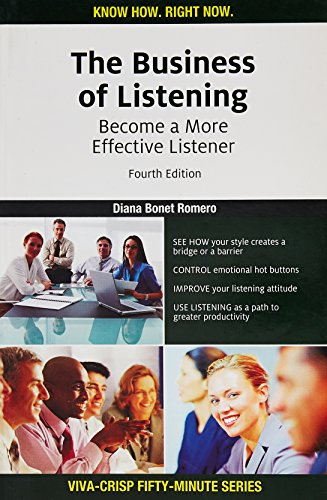 9788130918303: The Business of Listening: Become a More Effective Listener