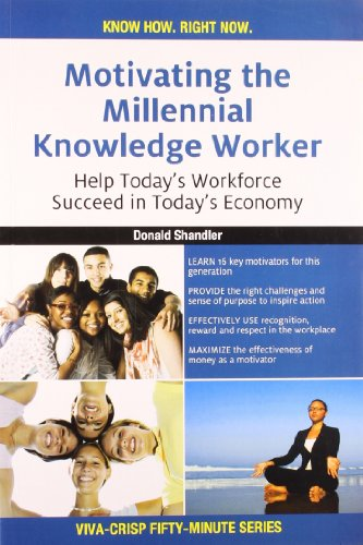 9788130918525: Motivating the Millennial Knowledge Worker: Help Today's Workforce Succeed in Today's Economy