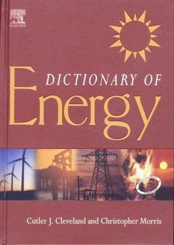 9788131205365: Dictionary of Energy: (South Asia Edition)