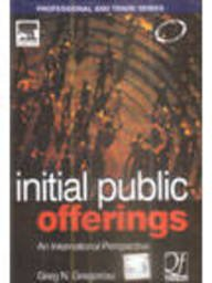 9788131208007: INITIAL PUBLIC OFFERINGS-AN INTERNATIONAL PERSPECTIVE OF IPOS