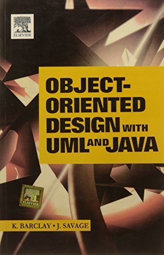 Object Oriented Design with UML and Java (8131215229) by Barclay K. Et.Al