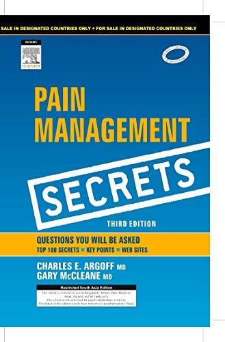 9788131228364: Pain Management Secrets (English) 3rd Edition