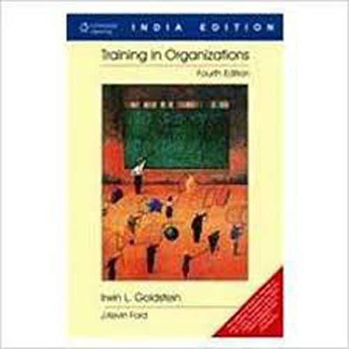 9788131500286: Training in Organizations