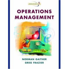Operations Management, 9th Edn {With 2 Cd}: Gaither Norman Et.Al