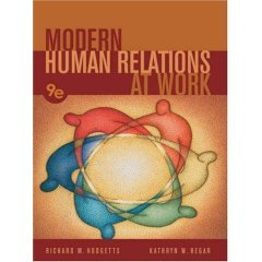9788131501276: Modern Human Relations at Work