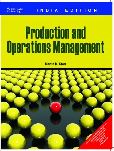 Production and Operations Management (India Edition): Martin Starr
