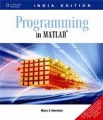 9788131510605: Programming In Matlab