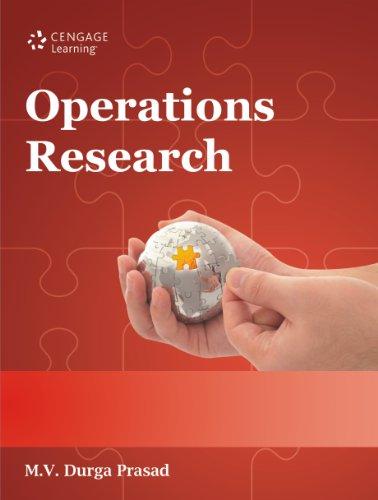 Operations Research: M.V. Durga Prasad