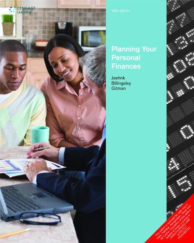 Planning Your Personal Finances (Twelfth Edition): Michael D. Joehnk,Randall S. Billingsley,...