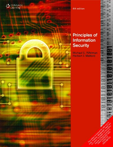 Principles of Information Security: Whitman Mattord