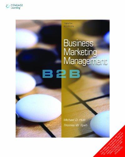 Business Marketing Management: B2B: Hutt