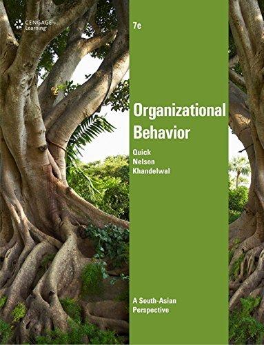 Organizational Behavior (Seventh Edition): Nelson,Preetam Khandelwal,Quick