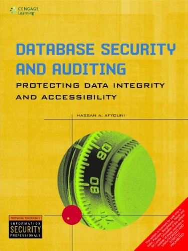 9788131519059: Database Security and Auditing: Protecting Data Integrity and Accessibility