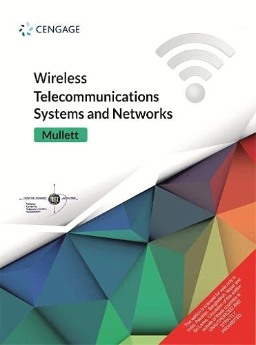9788131520123: Wireless Telecommunications Systems and Networks