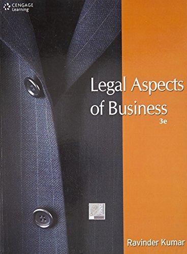 Legal Aspects of Business (Third Edition): Ravinder Kumar