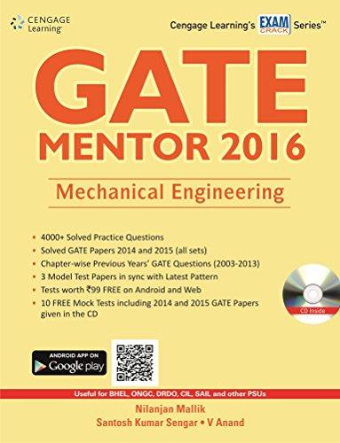 GATE MENTOR 2016: Mechanical Engineering: Nilanjan Mallik,Santosh Kumar