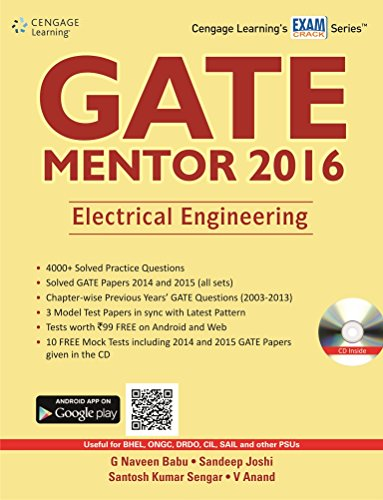 GATE MENTOR 2016: Electrical Engineering: G Naveen Babu,Sandeep