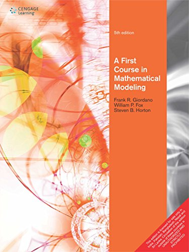 9788131529171: First Course In Mathematical Modeling