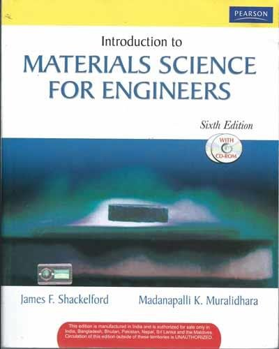 9788131700907: Introduction to Materials Science for Engineers , with cd (Livre en allemand)