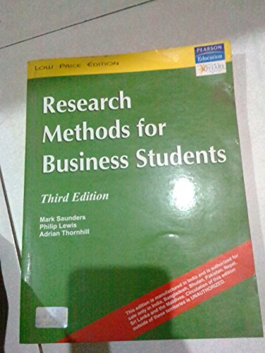 Research Methods For Business Students: n/a