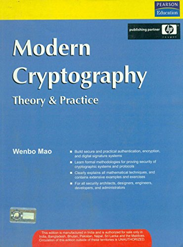 9788131702123: Modern Cryptography : Theory And Practice