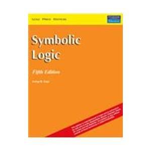 9788131702253: Symbolic Logic, 5/e