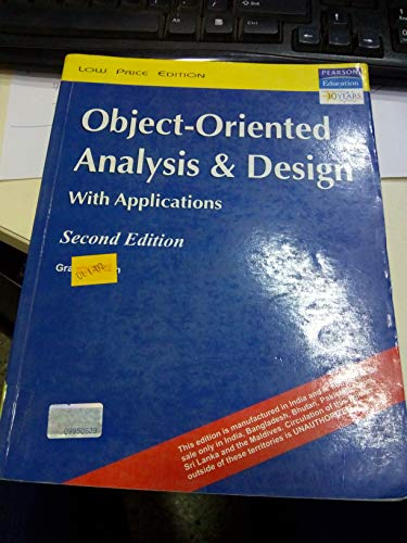 9788131702321: Object Oriented Analysis and Design with Applications (Livre en allemand)