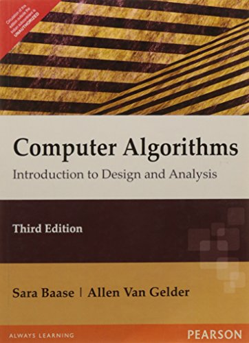 9788131702444: Computer Algorithms: Introduction to Design & Analysis