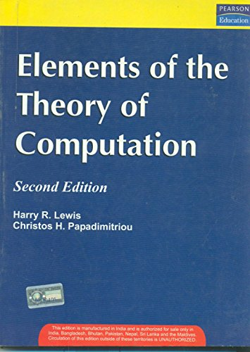 9788131703878: Elements of The Theory of Computation, 2/e