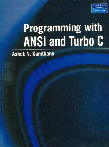 Ashok N Kamthane Programming In C Pdf