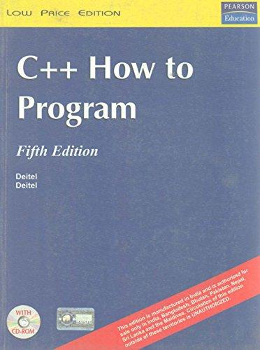 9788131704400: C++: How to Program