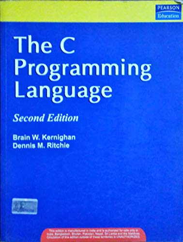 9788131704943: The C Programming Language (ansi C Version) (Livre en allemand)