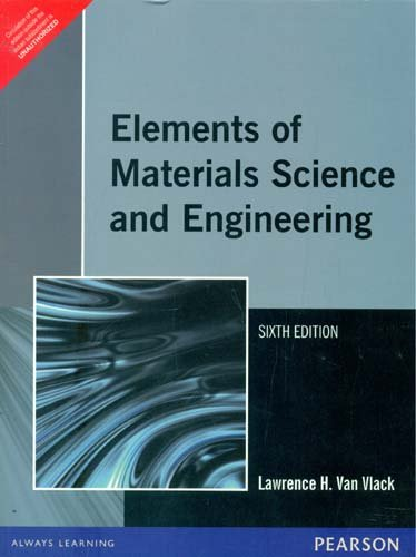 9788131706008: Elements of Materials Science & Engineering, 6e
