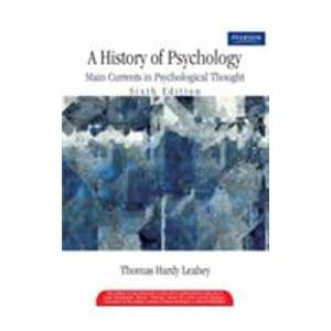 9788131706176: A History Of Psychology: Main Currents In Psychological Thought 6/E