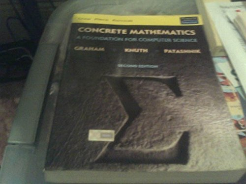 9788131708415: Concrete Mathematics: A Foundation for Computer Science (2nd Edition)