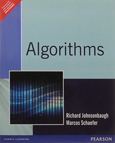 Algorithms: Marcus Schaefer,Richard Johnsonbaugh