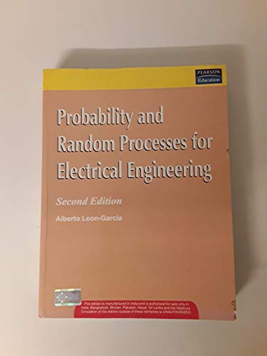 9788131709177: Probability and Random Processes for Electrical Engineering,2/e
