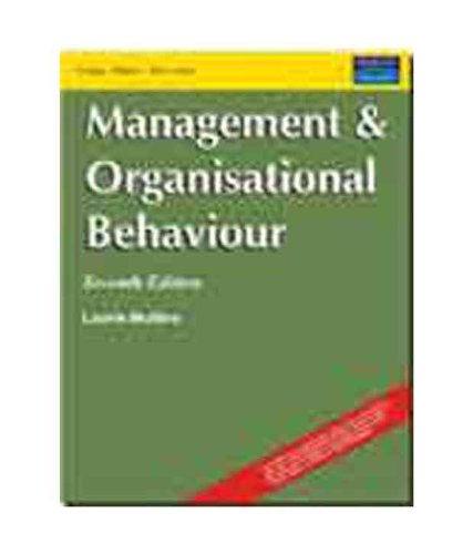 9788131709276: Management and Organisational Behaviour Seventh Edition Mullins 2009