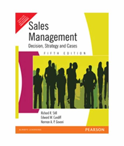Sales Management: Decision Strategy and Cases (Fifth: Cundiff W Edward,Govoni