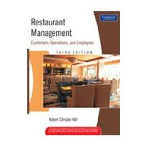 9788131713723: Restaurant Management: Customers, Operations, and Employees (Livre en allemand)