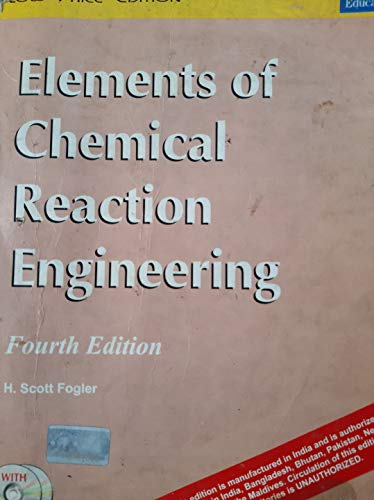 9788131714300: Elements Of Chemical Reaction Engi (cd) 4e