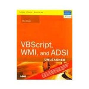 9788131715116: VBScript, WMI, and ADSI Unleashed(SAMS)