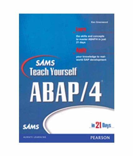 9788131716113: Sams Teach Yourself ABAP/4 in 21 Days